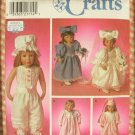 "American Victorian Wedding 18"" Doll Clothes Sewing Pattern Simplicity 8209"