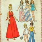 Barbie Doll Size Clothes Vintage 70 Sewing Pattern Simplicity 6697