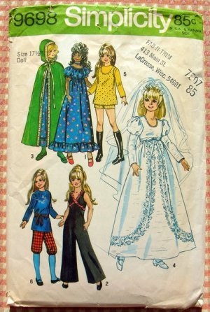 Crissy and Velvet Doll Clothes Sewing Pattern Simplicity 9698