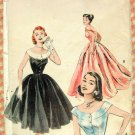 Fifties Ball Gown Evening Dress Vintage Sewing Pattern Butterick 6988