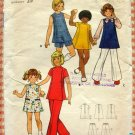 Girl's Dress, Jumper, Pants and Shorts Sewing Pattern Butterick 6986