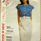 Vintage Sewing Pattern McCall's 4785 Misses Blouse and Skirt