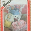 """18"""" Doll Carriers  Sewing Pattern Simplicity 6056"""