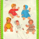 """Baby Doll 13"""" - 14""""  Wardrobe Vintage 70s Sewing Pattern Simplicity 8817"""