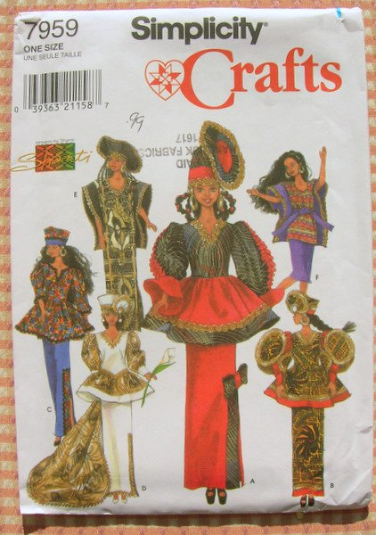11 1 2 Quot African Inspired Fashion Doll Clothes Sewing