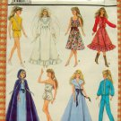 "11 1/2""  and 12 1/2"" Fashion Doll Clothes Sewing Pattern Simplicity 8333"