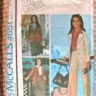 McCall's 4651 Sewing Pattern Vintage 70s Jacket Skirt and Pants