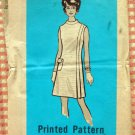 Faux Wrap Dress Vintage 60s Mail Order Sewing Pattern 9318