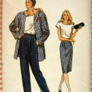 Misses Power Suit Vintage 80s Vogue Sewing Pattern 9951