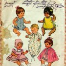 "16"" Baby Doll Wardrobe Vintage 70s Sewing Pattern Simplicity 5275"