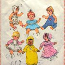 """18"""" Baby Doll Wardrobe Vintage 70s Sewing Pattern Simplicity 7208"""