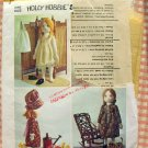 Holly Hobbie Rag Doll and Clothes Sewing Pattern Simplicity 6006