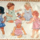 Infant's Sun Dress, Romper, Panties and Hat Butterick 4784 Vintage Sewing Pattern