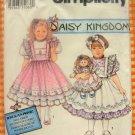 "Daisy Kingdom Dress and 22"" Doll Dress Simplicity 8877 Sewing Pattern"