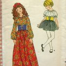 Girl's Peasant Maxi Dress Butterick 6003 Vintage Sewing Pattern