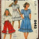 Girl's Peasant Blouse and Skirts McCall's 8443 Sewing Pattern