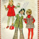 Girl's Bell Bottom Pants and Jumper Simplicity 5874 Vintage 70s Sewing Pattern
