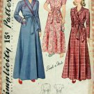 Girl's Long Robe Vintage 40s Pattern Simplicity 3505