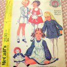 Raggedy Ann Style Girl's Dress McCall's 2530 Vintage Sewing Pattern