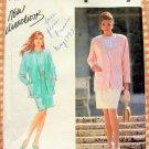 Misses Mock Sarong Skirt, Blouse Jacket Vintage 90s Pattern Simplicity 7443