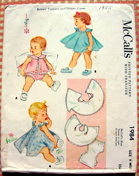 Baby Girl's Dress and Diaper Cover McCall's 1984 Vintage Sewing Pattern