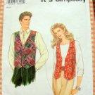Unisex Vests Vintage 90s Pattern Simplicity 9285