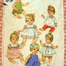 "15"", 16"", 17""  Baby Doll Wardrobe Vintage 60s Sewing Pattern Simplicity 7970"