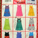 Toddler & Girl's Jumpers Butterick 5166 Vintage Sewing Pattern