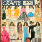 McCall's Sewing Pattern 8727 Brooke Shields Doll Clothes