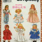 "18"" American  Doll Clothes Sewing Pattern Simplicity 8211"
