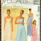 Misses 90s Evening Wear Dress McCall's 9287 Vintage Sewing Pattern