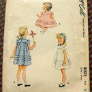 Toddler Girl's Pin-Tucked Dress McCalls 8093 Vintage 50s Sewing Pattern