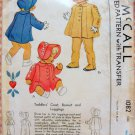 Toddler's Coat, Bonnet and Leggings McCall 1082 Vintage Sewing Pattern