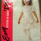 Little Girl's 90s Dropped Waist Dress Size 4 McCall's 5221 Vintage Sewing Pattern