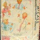 Baby Smocked Jacket, Short or Long Kimono Vintage Sewing Pattern McCall 682