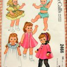 "McCall's Sewing Pattern 2466 20"" to 21"" Girl  Doll Clothes"