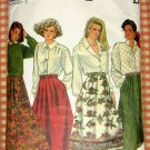 Misses Pleated Skirts Sewing Pattern Simplicity 9876