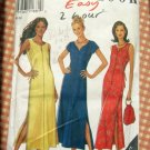 Misses Ankle-Length Leg Slits Summer Dress Vintage 90s New Look Sewing Pattern 6749
