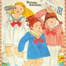 Girl's Sailor Outfit Vintage 70s Betsey Johnson Sewing Pattern Butterick 5280