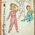 Toddlers Pajamas Vintage Sewing Pattern Simplicity 4535 Sz 1