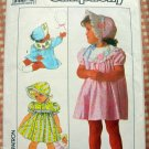 Toddler Appliqued  Dress and Bonnet  Sewing Pattern Simplicity 9130