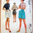 """Misses High Waisted Shorts Vintage 50s Sewing Pattern McCall 8061 28"""" waist"""