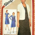 Misses Dress and Jacket Vintage 80s Pattern Simplicity 9848