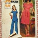 Simplicity 5556 Vintage 70s Jiffy Dress Tunic Pants Pattern Plus Size