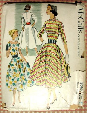 Bouffant Dress Vintage 50s Sewing Pattern McCall's 8987