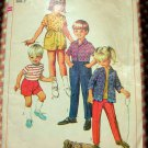 Boy's Shorts, Tops and Pants Vintage 60s Sewing Pattern Simplicity 7333