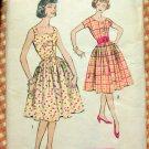 Misses Rockabilly Dress Vintage Sewing Pattern Advance 9051