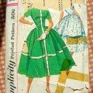 Misses 50s Dress Vintage Pattern Simplicity 1989