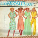 Misses 70s Dress, Top and High Waisted Pants McCall's 6097 Vintage Sewing Pattern