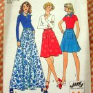 Maxi Wrap Skirt and Scarf  Vintage 70s Sewing Pattern Simplicity 6789